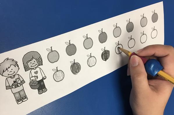 Dark and Light Pressure Gradiation Activity for Pencil Skills