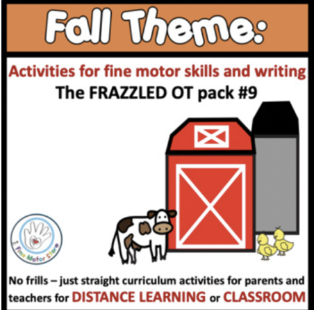 Distance Learning Fine Motor and Writing Packs