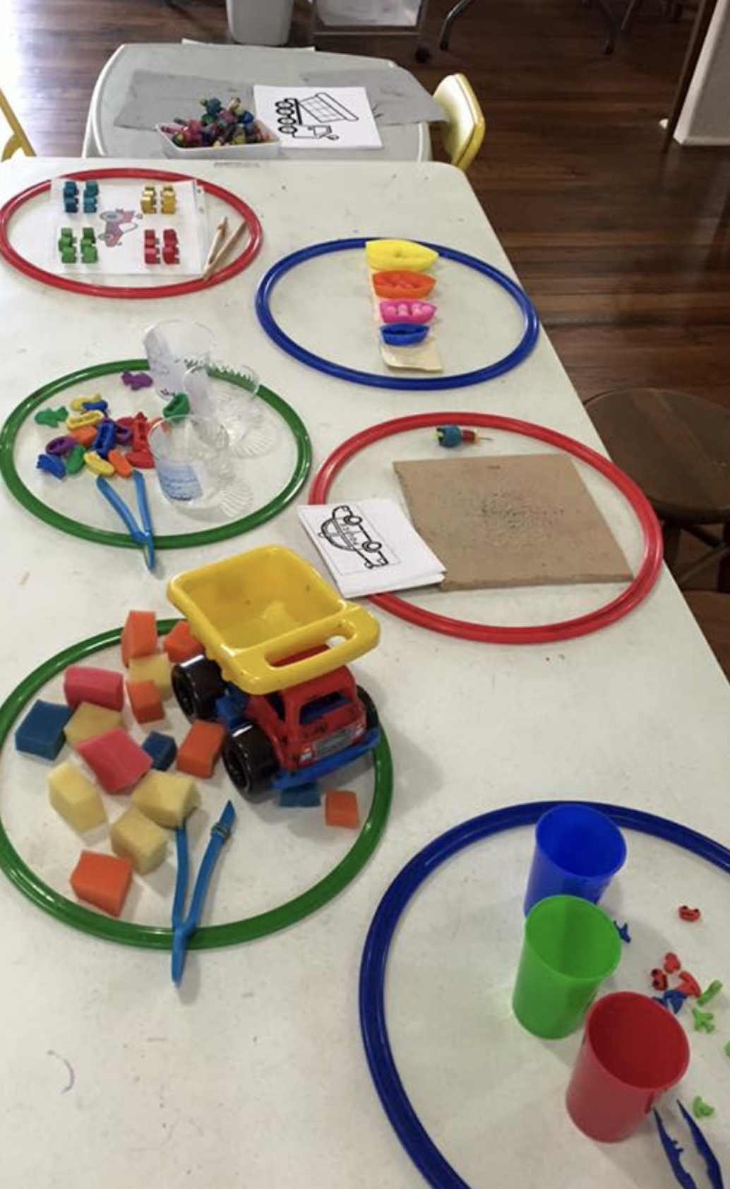 Fun Way to Set Up Fine Motor Centers!