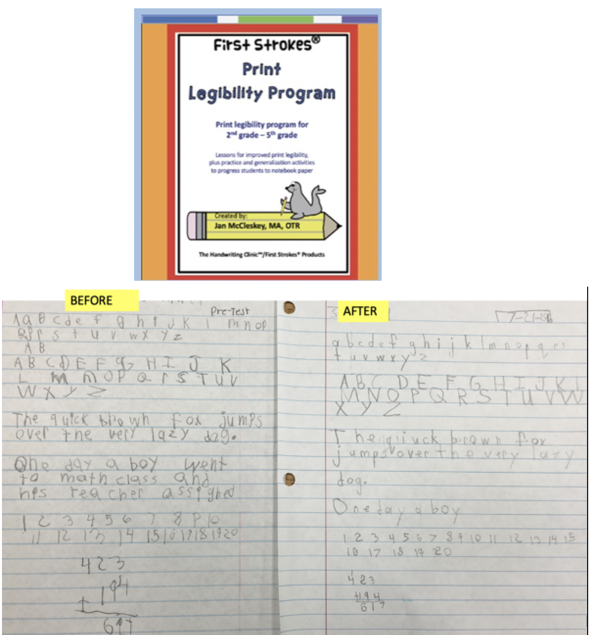 Self Paced Print Legibility Program for 2nd – 5th graders