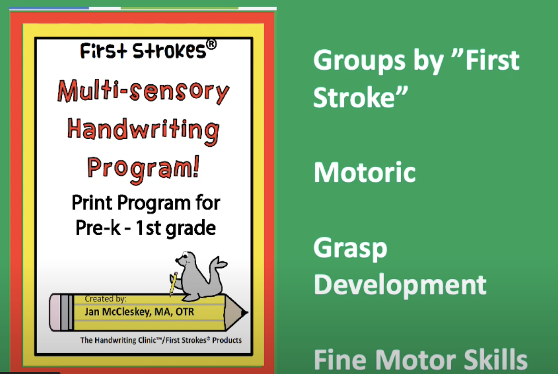 Self Paced Handwriting and Fine Motor Course for Pre-K – 1st grade