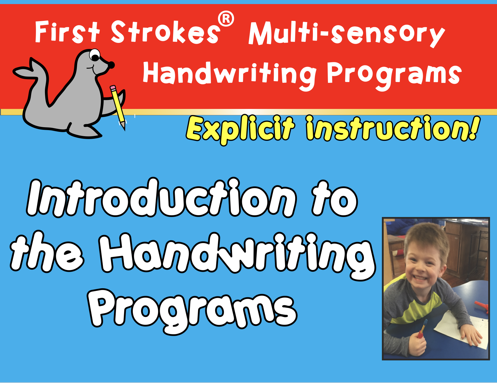 Overview of the First Strokes Handwriting Program