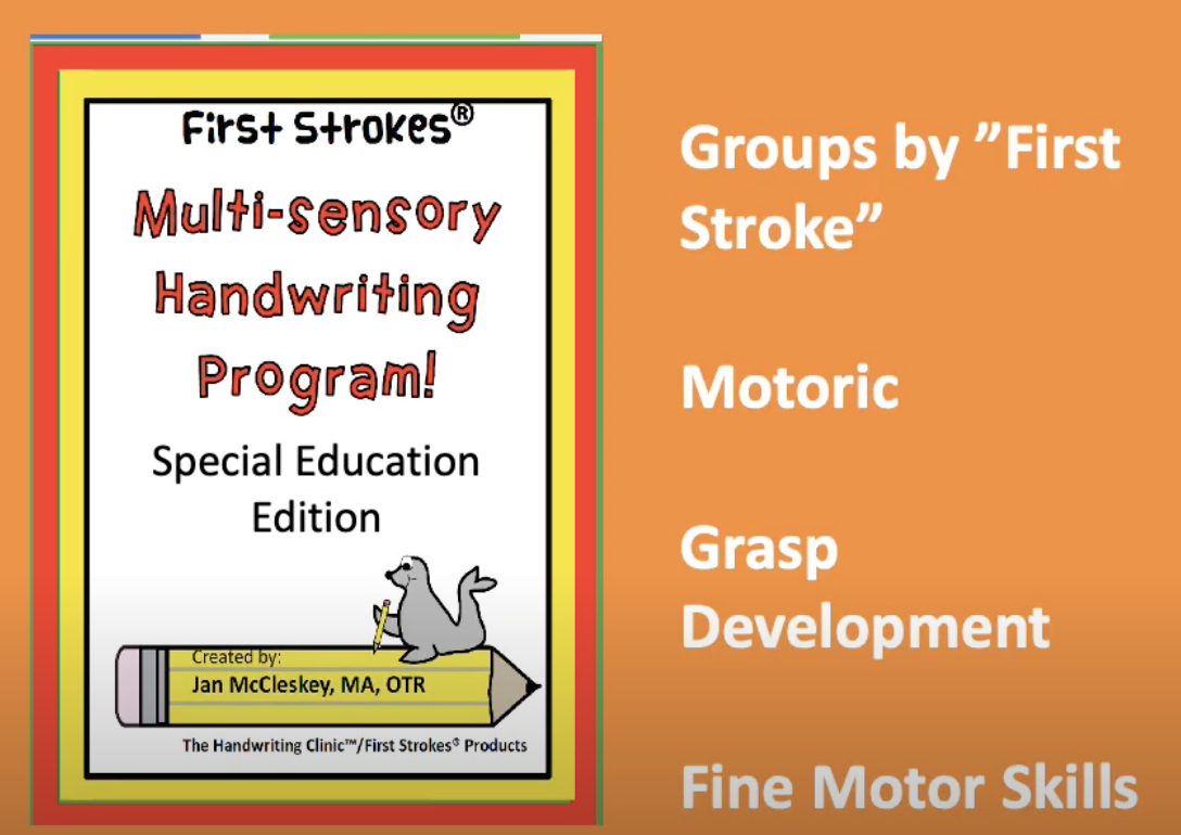 Self Paced Handwriting and Fine Motor Course for Special Education