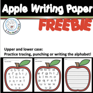 FREEBIE- Apple Writing Paper