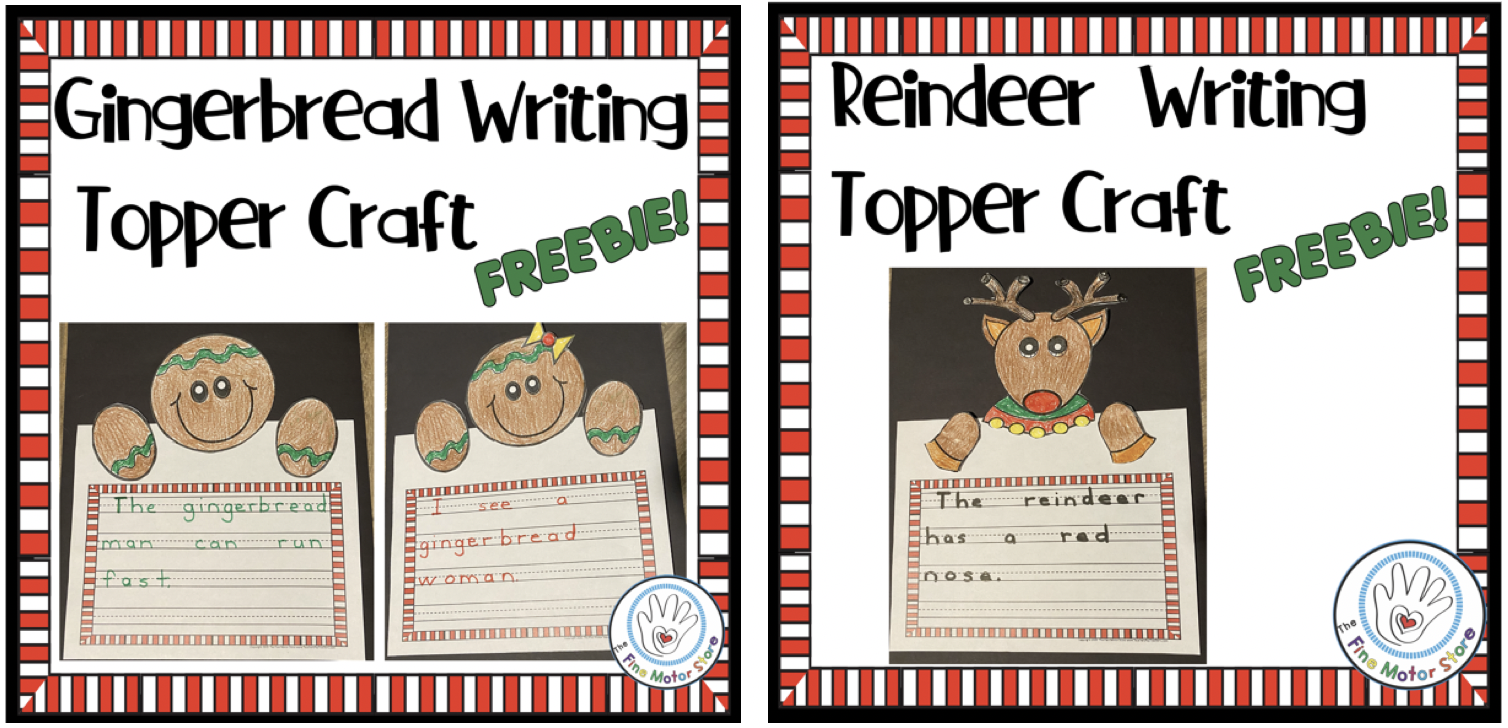 FREE Writing Topper Crafts and Printable Writing Paper for December: Gingerbread and Reindeer