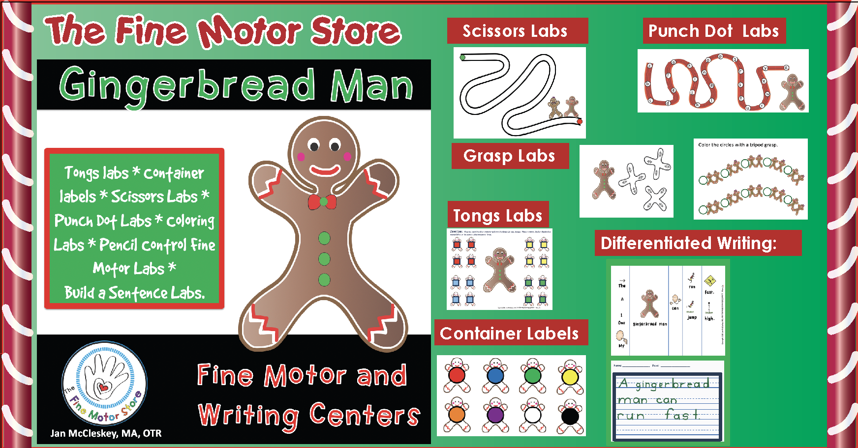 Sale on the newly updated Gingerbread Fine Motor and Writing Product